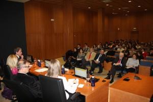 En primera fila, el Presidente del Consejo Económico y Social y el Cónsul de Dinamarca