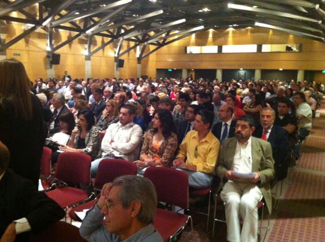 Un aspecto del auditorio de la Universidad Católica Argentina durante el Congreso
